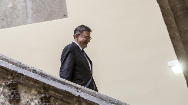 Imagen de Ximo Puig tomada en el Palau de la Generalitat