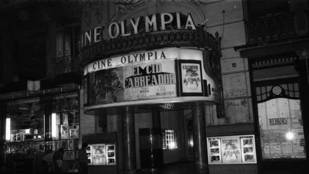Imatg de la mostra del Teatre Olympia, en la seua etapa de sala de cinema