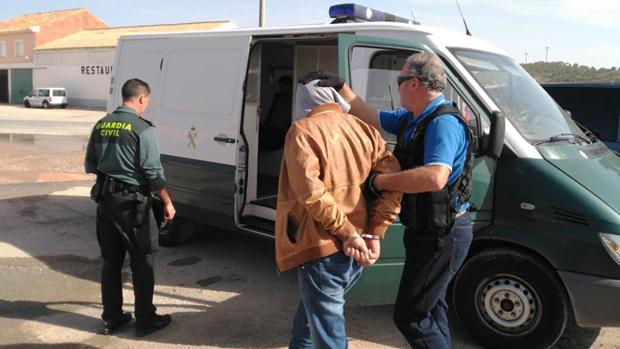 Uno de los detenidos en la localidad albaceteña de Pozo Cañada