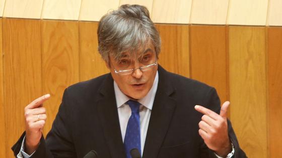 Pedro Puy durante la intervención en la Cámara