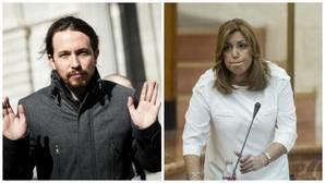 Iglesias ataca a Susana Díaz por comparar a Podemos con Trump: «Quisiera saber qué se ha bebido ella»
