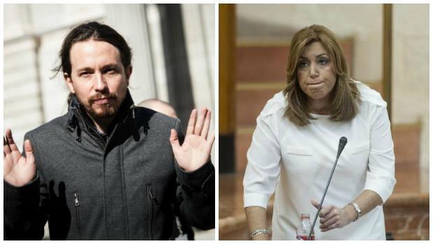 Pablo Iglesias y Susana Díaz
