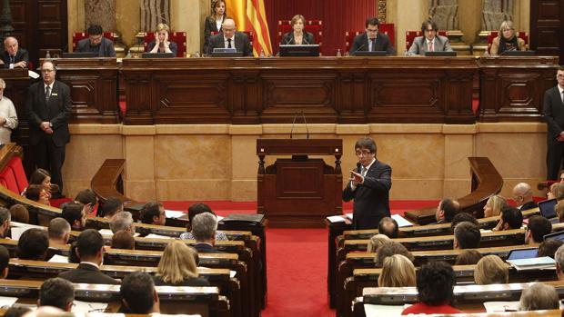 Sesión de control al Govern en el Parlamento de Cataluña