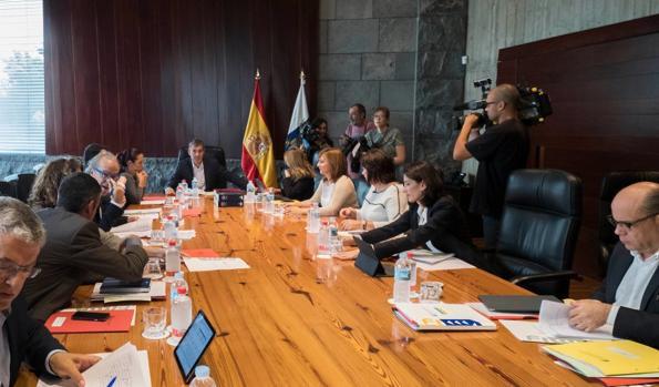Consejo de Gobierno de Canarias, este jueves, en Tenerife