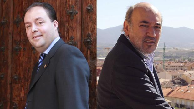 El portavoz bilbilitano del PSOE, Víctor Ruiz (izquierda), y el alcalde bilbilitano, José Manuel Aranda