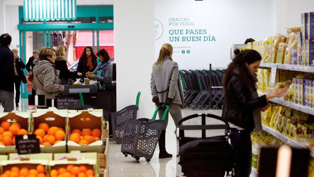 Imagen tomada en un comercio de Valencia
