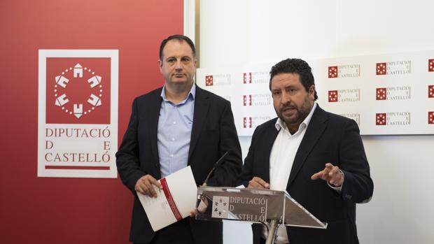 El presidente de la Diputación de Castellón, Javier Moliner, en la presentación de presupuestos