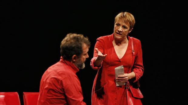 La actriz Blanca Portillo y el actor José Luis García-Pérez, este pasado jueves durante los ensayos