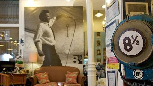 Imagen de la librería Ocho y Medio, dedicada en exclusiva al séptimo arte