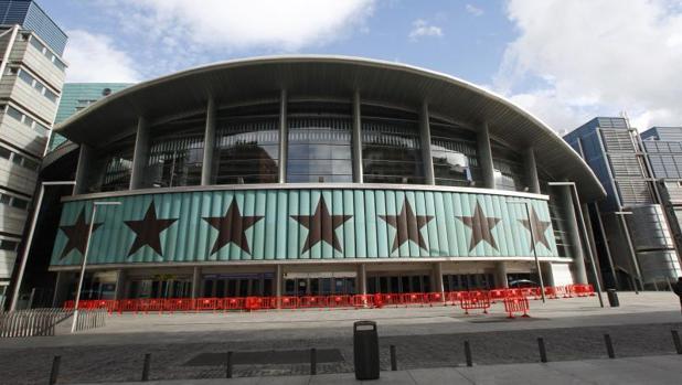 El exterior del Palacio de Deportes de Madrid