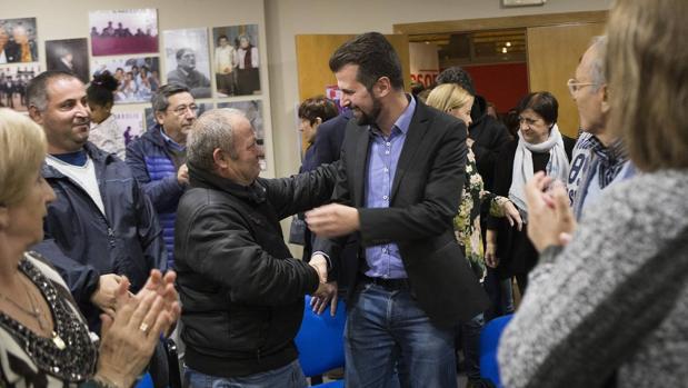 El secretario general del PSCyL, Luis Tudanca, mantuvo un encuentro con militantes y simpatizantes de la agrupación local del PSOE de Zamora