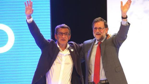 Feijóo y Rajoy, en el cierre de campaña el pasado 23 de septiembre