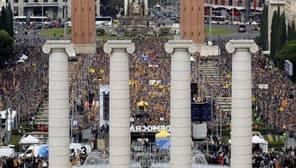Manifestación en Barcelona de apoyo a los independentistas procesados