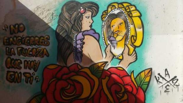 Uno de los graffitis participantes en la edición anterior