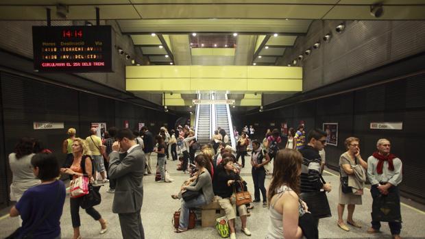 Imagen de archivo de una estación del Metro de Valencia