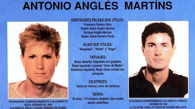 Imagen de la ficha policial de Antonio Anglés