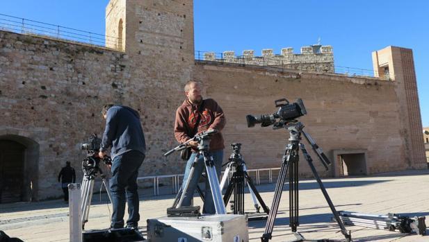 Imatge de la gravació de l'audiovisual a Requena
