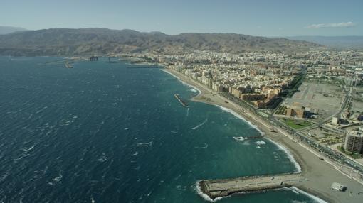 Imagen del trazado al paso por Almería