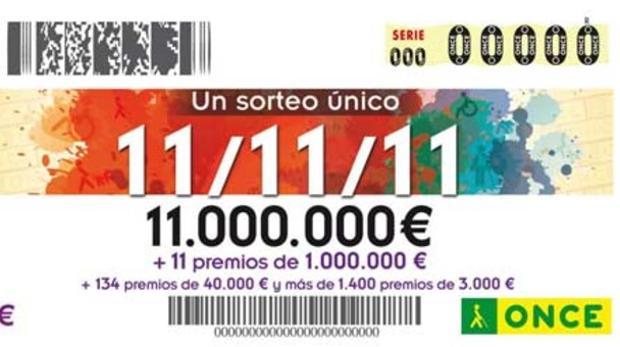 La ONCE reparte 137.500 euros en Toledo en el Cupón Extra del 11 del 11
