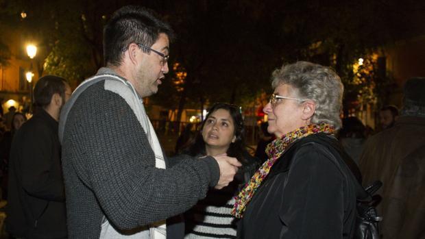 Sánchez Mato, Arce y Galcerán, en la manifestación de ayer