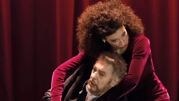 Davinia Rodríguez y Plácido Domingo en Viena