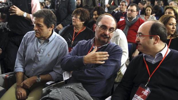 Fernández, Lambán e Iceta, en una foto de archivo