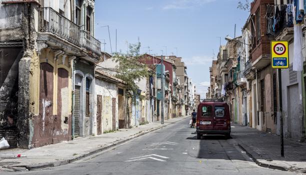 Imagen de la zona declarada Bien de Interés Cultural en el Cabanyal