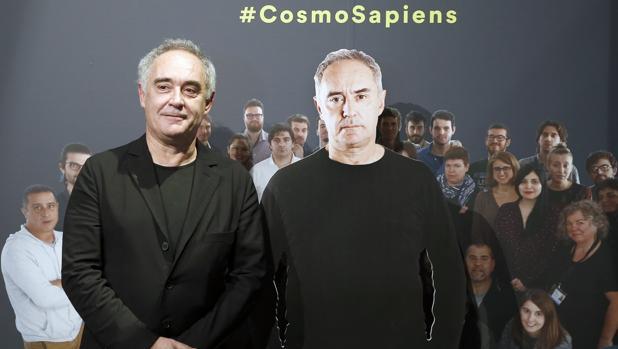 Ferran Adriá, durante la inauguración de la muestra