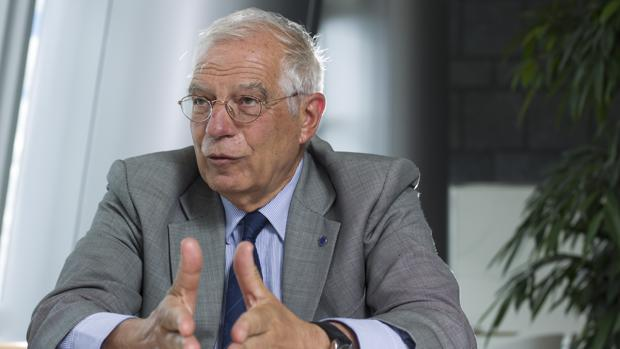 Josep Borrell, el pasado junio, en una entrevista con ABC