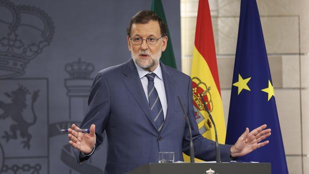 Rajoy, ayer en rueda de prensa