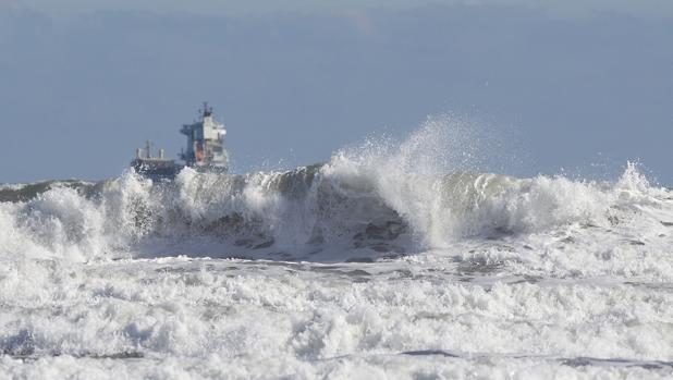 Imagen del temporal marítimo en Castellón