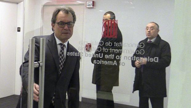 Mas en la Delegación del Goven en Nueva York en su primer día de visita a EEUU en 2015