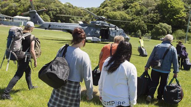 Varias personas que se encontraban en Nueva Zelanda, en el momento de la evacuación