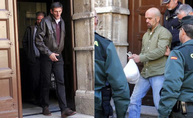 José Pedro, alias «Filigón», y Jairo Juárez, este miércoles a la salida de la Audiencia de Toledo