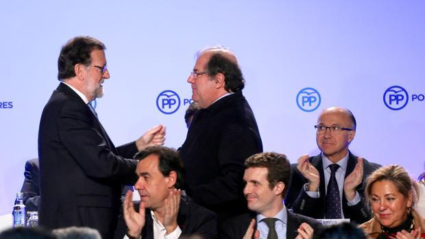 Rajoy y Herrera, en la Junta Directiva del PP de Castilla y León el pasado enero