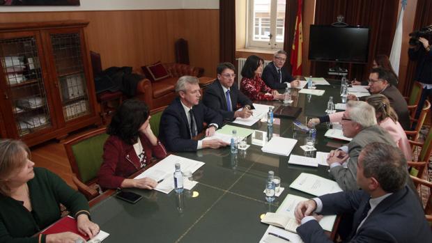 Rueda y Cadenas durante la reunión de ayer en La Coruña