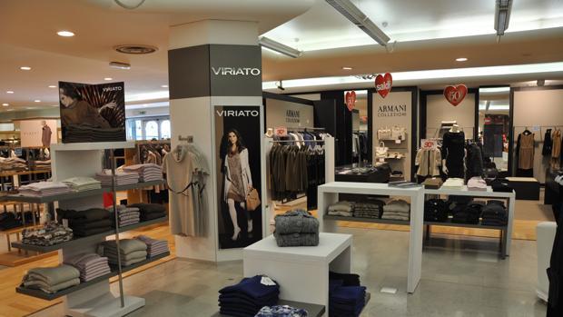Interior de la tienda de Viriato en la ciudad italiana de Udine