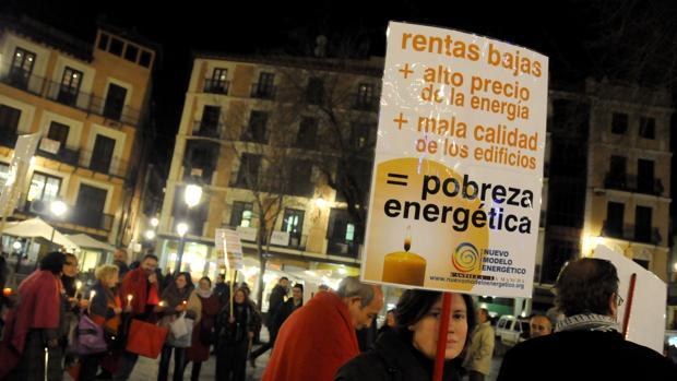 Imagen de una manifestación contra la pobreza energética