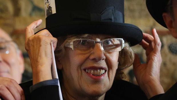 Manuela Carmena, durante el pregón de la Alegre Cofradía del Entierro de la Sardina