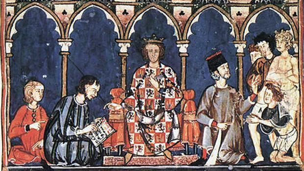 Imagen del rey Alfonso X «el Sabio»
