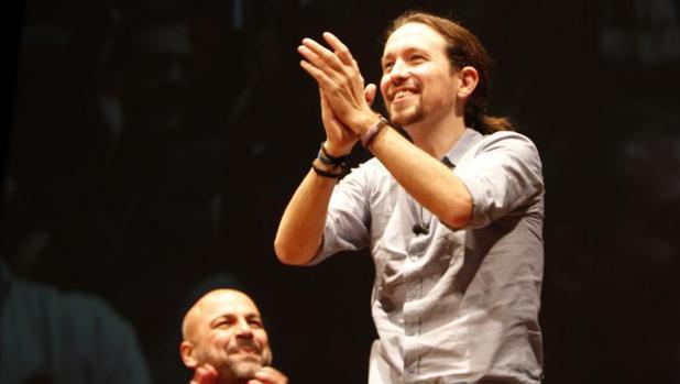 Pablo Iglesias en un mitin en Toledo en diciembre hace un año