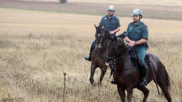 Una patrulla del equipo Roca a caballo en los campos de Ciudad Real