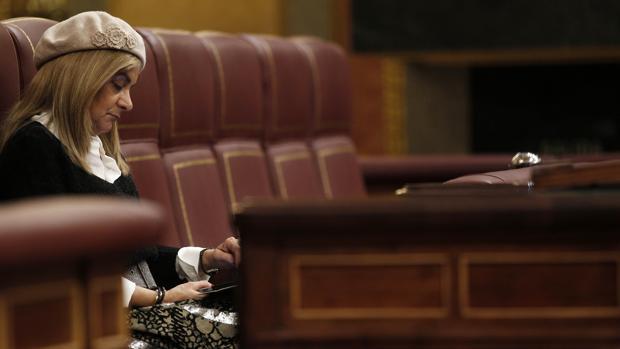 Carmela Silva durante su etapa como diputada en el Congreso