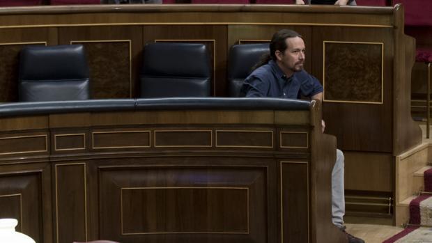 Imagen de Pablo Iglesias tomada este jueves en el Congreso