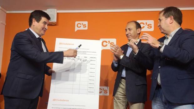 Inicio de la recogida de firmas de Ciudadanos