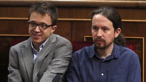 Íñigo Errejón y Pablo Iglesias en la solemne sesión de Apertura de la Legislatura