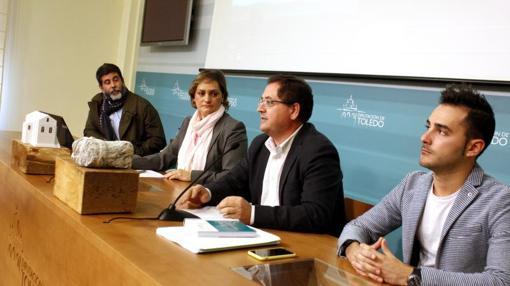 Morín, García, Villarrubia y José Luis Ruiz de los Paños, concejal de Cultura