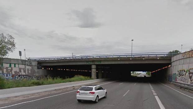 Puente que conecta la M-40 y la A-5