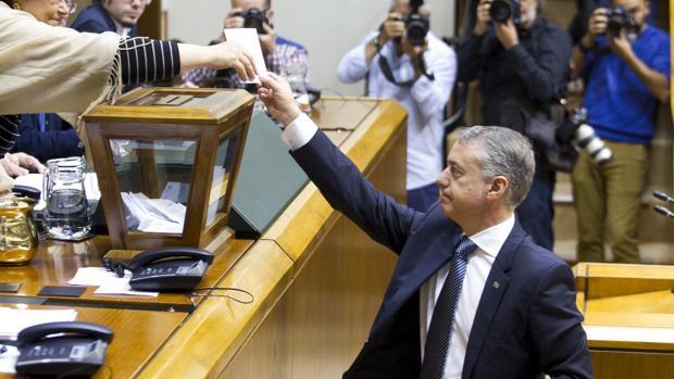 El candidato del PNV para lendakari, Íñigo Urkullu