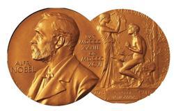 Medalla del Nobel. Original del máximo reconocimiento en literatura logrado en 1989